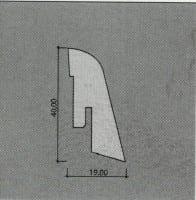 Vorschau: Kährs Sockelleisten Furniert 19 x 40 mm (ab 3,69€/lfm)