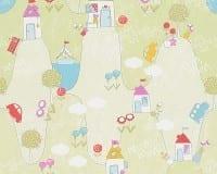 Vorschau: Wunderland grün Kinderwelt - A.S. Creation Papier-Tapete