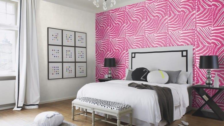 Tierfell Pink - Rasch Vlies - Tapete Tierprint Moderne