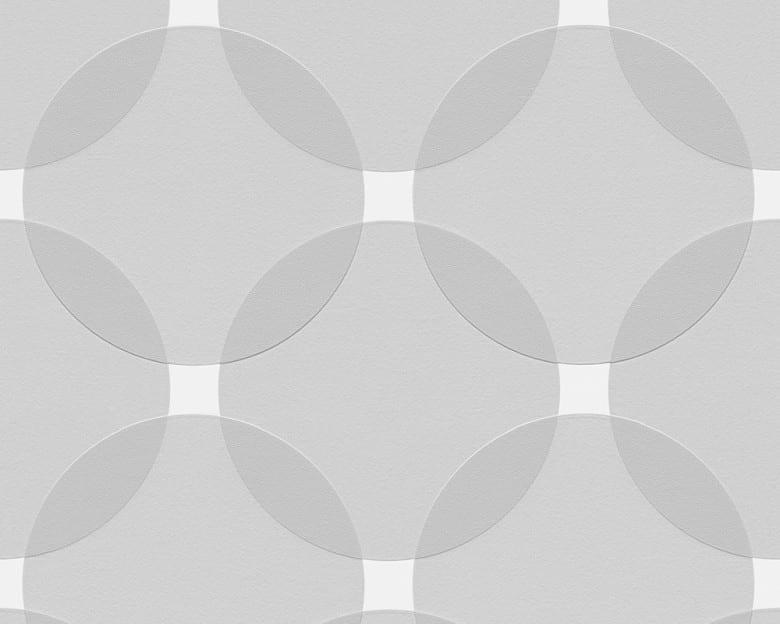 Tapete 70er Jahre Grau Weiss - AS Creation Vlies - Tapete