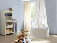 Vorschau: Zartes Blau - Rasch Papier Kindertapete