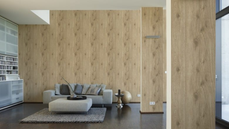 Eiche Beige Holzoptik- A.S. Creation Vlies -Tapete