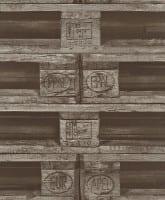 Vorschau: Paletten Braun - Rasch Vlies-Tapete Fototapete