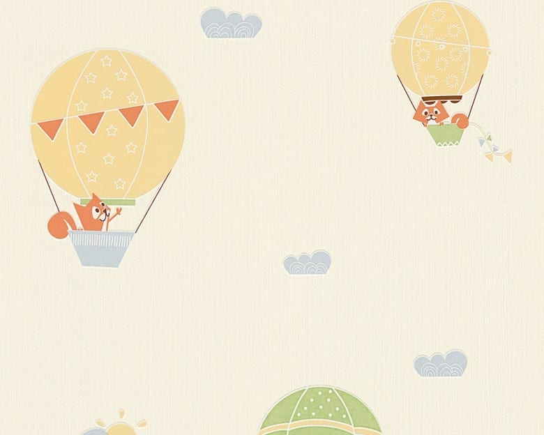 Heißluftballon Kinderwelt - A.S. Creation Papier-Tapete