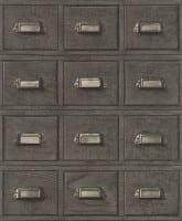 Vorschau: Apothekerschrank Grau - Rasch Vlies-Tapete Fototapete