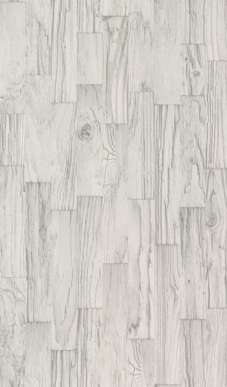 Treibholz Weiß - Rasch Vlies-Tapete Holzoptik