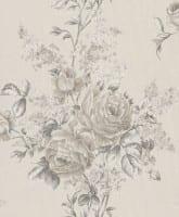 Vorschau: Floral Rose creme - Rasch Vlies-Tapete