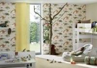 Vorschau: Dinosaurier grün Kinderwelt - A.S. Creation Papier-Tapete