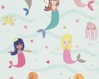 Vorschau: Meerjungfrauen Kinderwelt - A.S. Creation Papier-Tapete