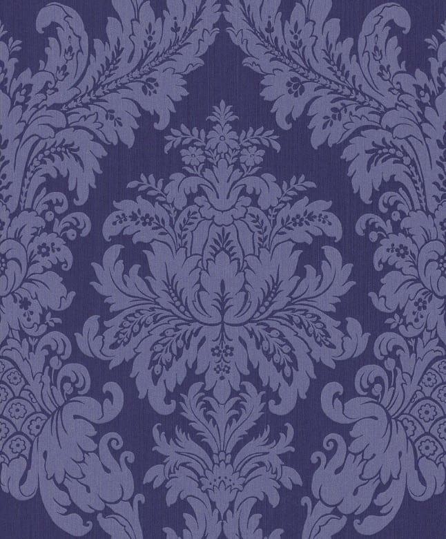 Floral violett - Rasch Vlies-Tapete