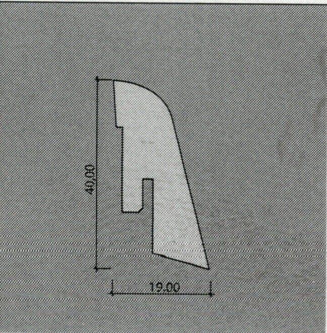 Kährs Sockelleisten Furniert 19 x 40 mm (ab 3,69€/lfm)