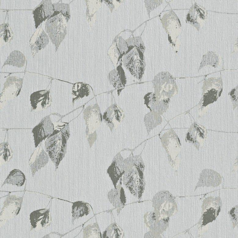 Blätter Grau - Rasch Vlies-Tapete Floral