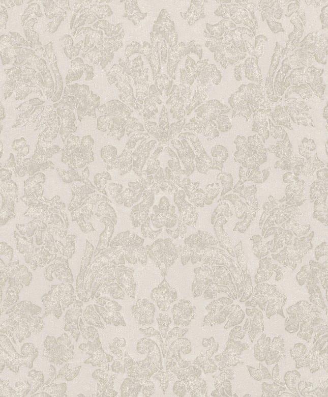 Tapete Barock Creme Rosa - Rasch Vlies - Floralprint