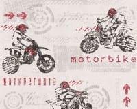 Vorschau: Motorbike rot Kinderwelt - A.S. Creation Papier-Tapete