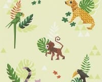 Vorschau: Dschungel Kinderwelt - A.S. Creation Papier-Tapete