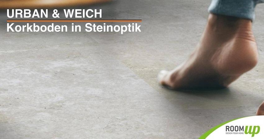 Korkboden in Steinoptik - Korkfertigparkett Betonoptik