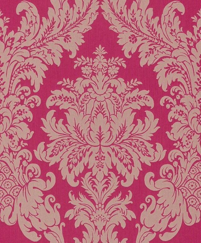 Floral pink - Rasch Vlies-Tapete
