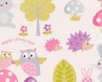 Vorschau: Waldfreunde rosa Kinderwelt - A.S. Creation Papier-Tapete