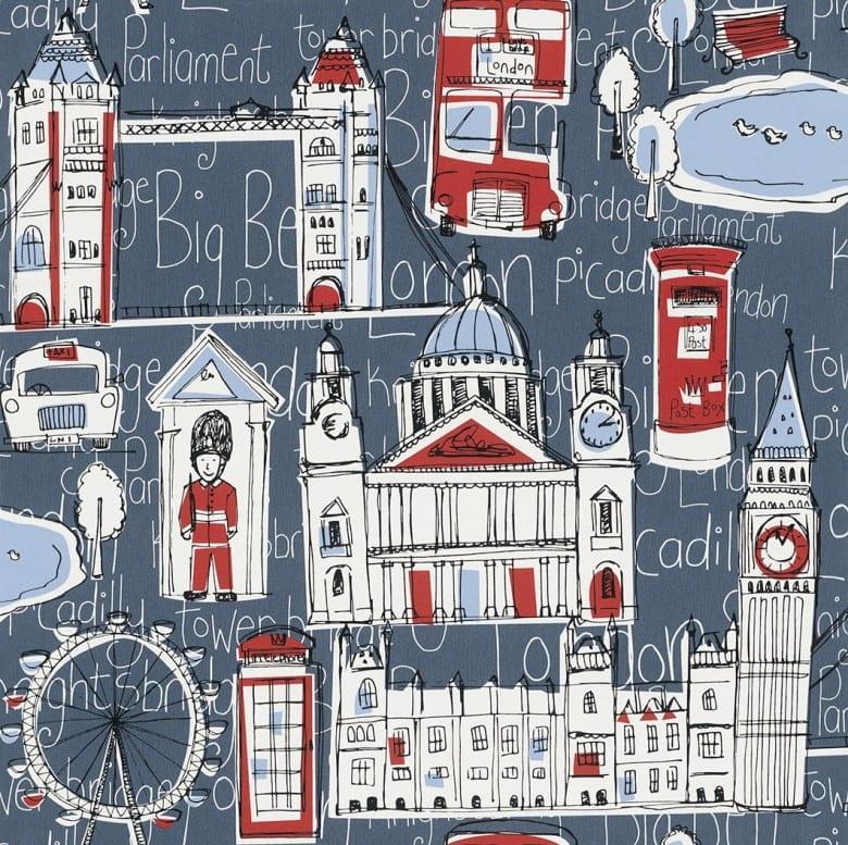 London - Rasch Papier Kindertapete
