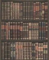 Vorschau: Bibliothek Braun - Rasch Vlies-Tapete Fototapete