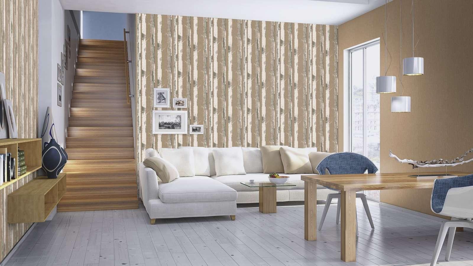 tapete holzoptik wohnzimmer : Tapete F R Ihr Wohnzimmer Kaufen