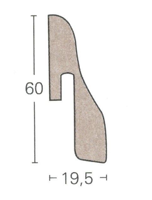 SL4 - Parador Laminat Sockelleisten (3,85€/lfm)