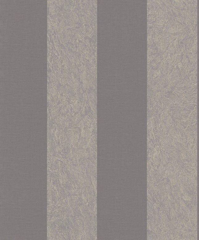 Tapete Barock Gold Grau - Rasch Vlies - Tapete Streifenmuster