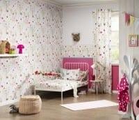 Vorschau: Gartenfreunde Rosa - Rasch Papier Kindertapete
