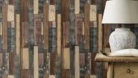 Vorschau: Holzplanken Dunkel - Rasch Vlies-Tapete Holzoptik