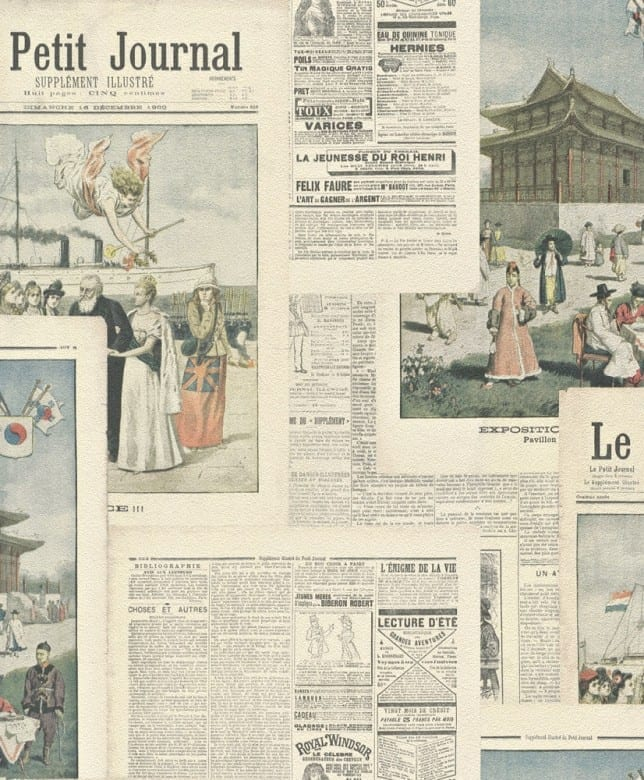 Zeitungspapier - Rasch Vlies-Tapete Fototapete