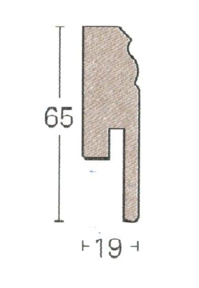 Uni weiß Hamburger Leisten HL1 - Parador Sockelleisten (3,15€/lfm)