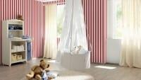 Vorschau: Rote Streifen - Rasch Papier Kindertapete