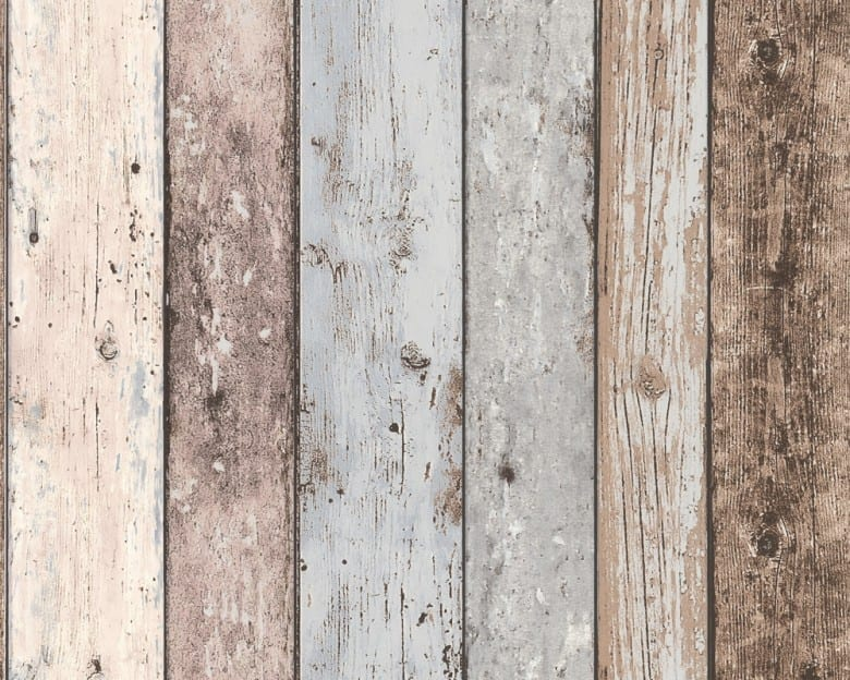 Blau Streifen Holzoptik- A.S. Creation Vlies -Tapete
