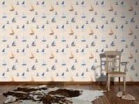 Vorschau: Segelboote beige Kinderwelt - A.S. Creation Papier-Tapete