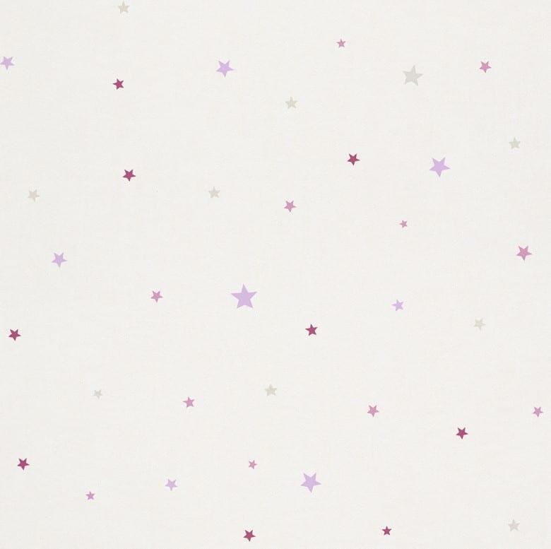 Sternchen rosa Kindertapeten  - Rasch Papiertapete