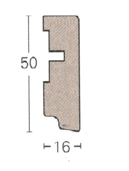 SL6 - Parador Laminat Sockelleisten (3,15€/lfm)