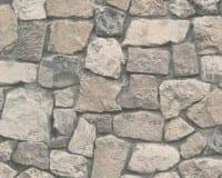 Vorschau: Grau Mediterran Steinoptik- A.S. Creation Vlies -Tapete