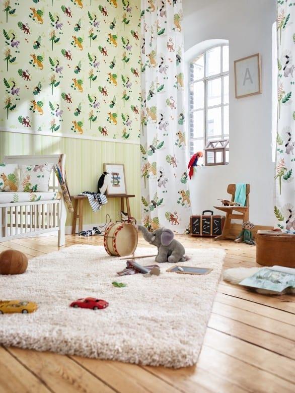 Dschungel Kinderwelt - A.S. Creation Papier-Tapete