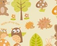 Vorschau: Waldfreunde orange Kinderwelt - A.S. Creation Papier-Tapete
