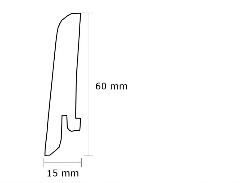 Wicanders Amorim Vinylcomfort MDF-Leiste 60 - Raw Umber