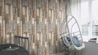 Vorschau: Holzplanken Braun - Rasch Vlies-Tapete Holzoptik