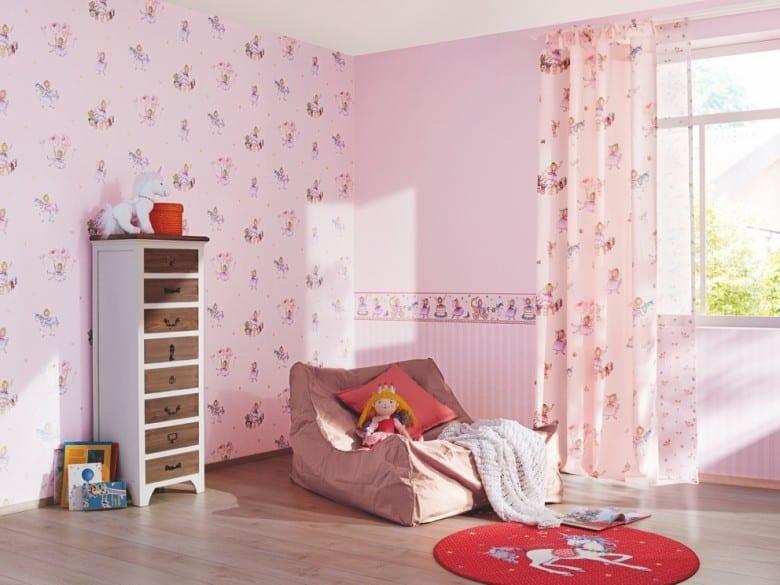 Prinzessin Lillifee Rosa - Rasch Papier Kindertapete