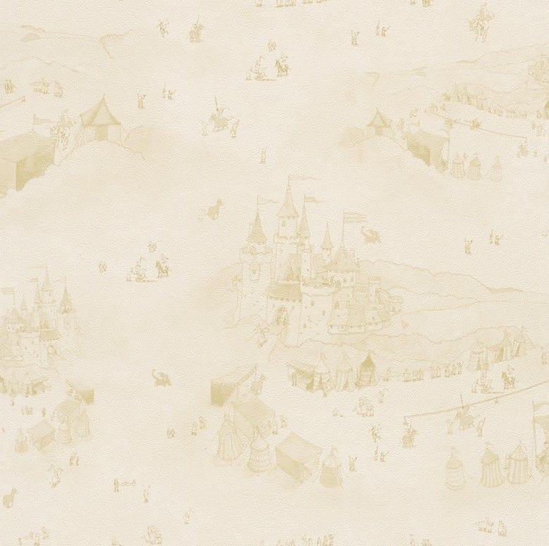 Vincelot Schlösser Orange - Rasch Papier Kindertapete