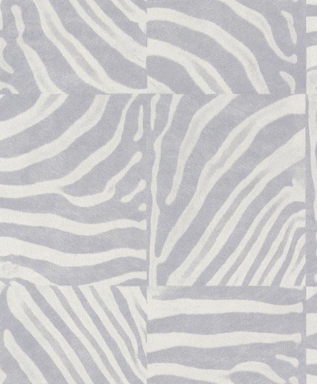 Tierfell Hellgrau - Rasch Vlies - Tapete Tierprint Moderne