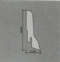 Vorschau: Kährs Sockelleisten Furniert 22 x 60 mm (ab 4,58€/lfm)