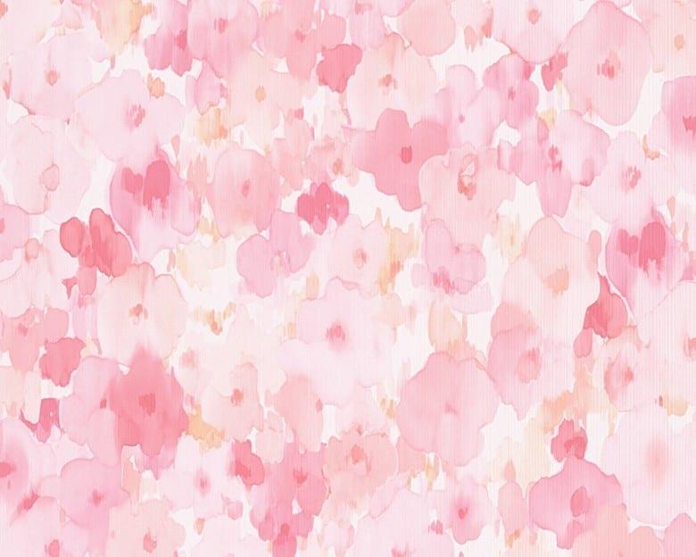 Blumenwiese rosa Kinderwelt - A.S. Creation Papier-Tapete