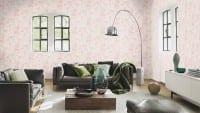 Vorschau: Tierfell rosa - Rasch Vlies - Tapete Tierprint