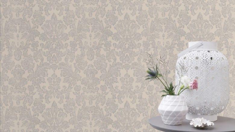 Tapete Barock Creme - Rasch Vlies - Floralprint