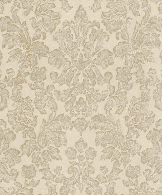 Tapete Barock Creme Beige - Rasch Vlies - Floralprint