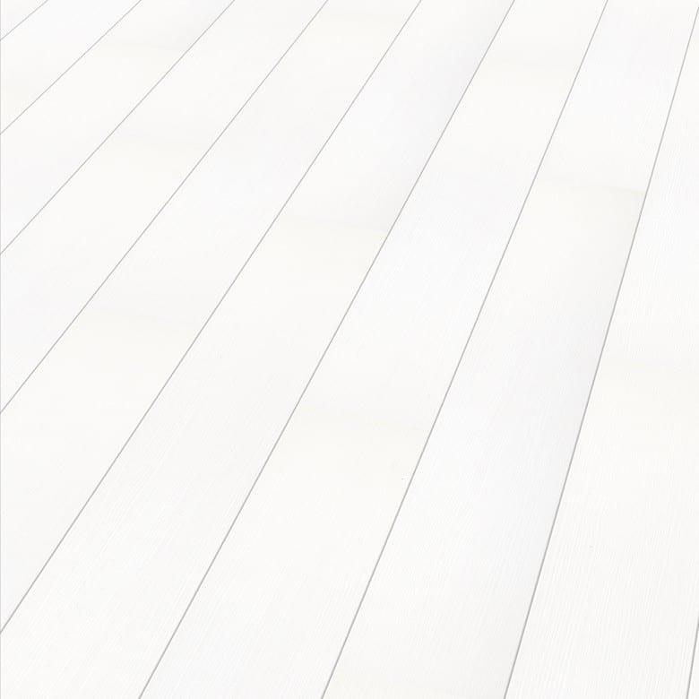 Color white Arktis Elesgo Rundkante Extra Sensitive - Laminat Holzoptik Hochglanz